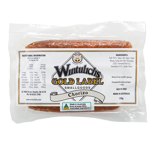 Gold Label Chorizo 250g